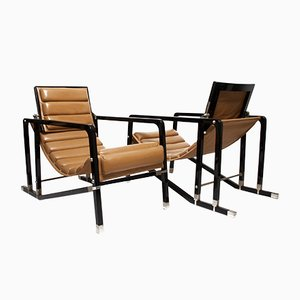 Transat Chairs by Eileen Gray for Ecart International, 1980s, Set of 2