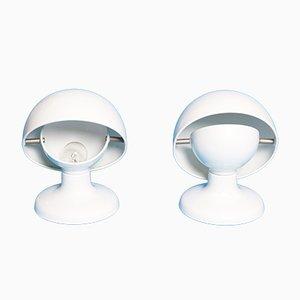 Weiße Jucker Lampen von Afra & Tobia Scarpa für Flos, 1965, 2er Set