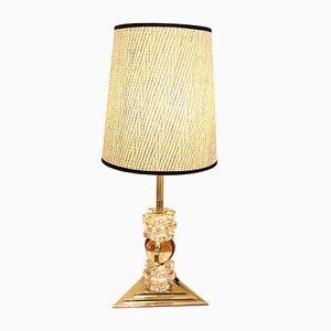 Lámpara de mesa francesa plateada, años 30