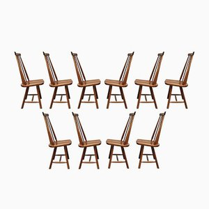 Mid-Century Dutch Dining Chairs, Set of 10