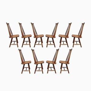 Niederländische Mid-Century Esszimmerstühle, 10er Set