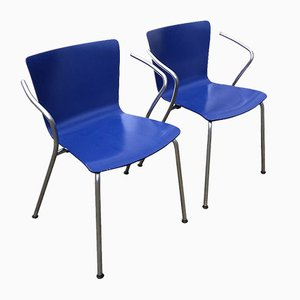 VM 101 Stacking Chairs by Vico Magistretti for Fritz Hansen, 2000, Set of 2