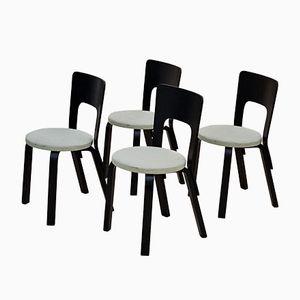 Model 66 Dining Chairs by Alvar Aalto for Artek, 1950s, Set of 4