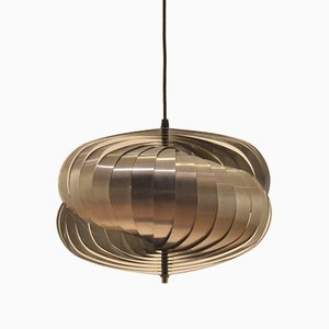 Silver Spiral Pendant Lamp by Henri Mathieu for Lyfa, 1970s
