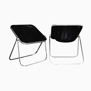 Plona Folding Chairs by Giancarlo Piretti for Anonima Castelli, 1970s, Set of 2