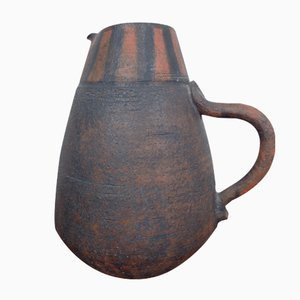 Studio Ceramic Jug with Handle by Gerhard Liebenthron, 1963