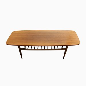 Table Basse Mid-Century en Noyer, 1970S