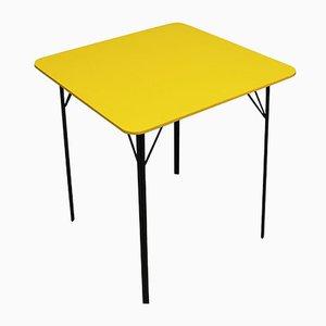 Mesa de comedor vintage amarilla