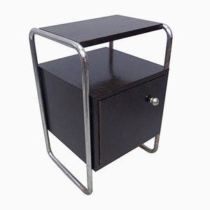 Vintage Black Bedside Cabinet