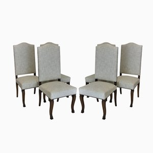 French High Back Dining Chairs, 1830s, Set of 6