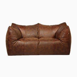 Vintage Le Bambole Leather Sofa by Mario Bellini for B&B Italia