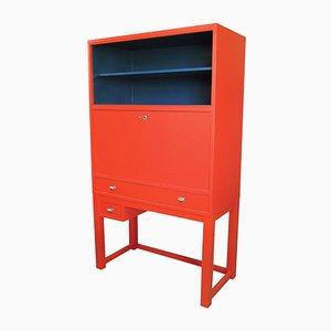 Mueble vintage rojo y azul