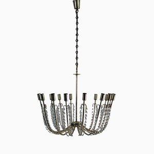 Large Alpha Salon Chandelier by J.T. Kalmar for Kalmar, 1955