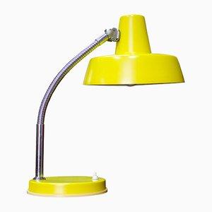 Lámpara de mesa amarilla de Szarvasi, años 70