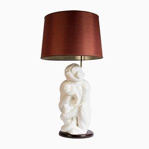 Italienische Keramiklampe mit Affe, 1950er