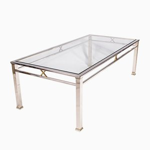 Chrome and Glass Coffee Table from Belgochrom