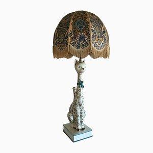 Lampe Chat en Céramique, 1960s