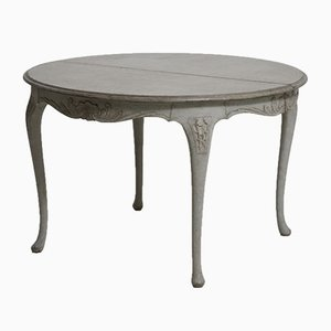 Antique Swedish Rococo Style Extension Table