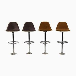 Taburetes de bar vintage de Ray & Charles Eames para Herman Miller. Juego de 4