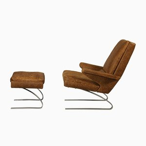 Swing Lounge Chair and Ottoman by Reinhold Adolf and Hans-Jürgen Schräpfer for COR, 1970s
