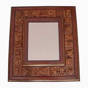 Terracotta Tile Mirror by Ron Hitchins, 1960s