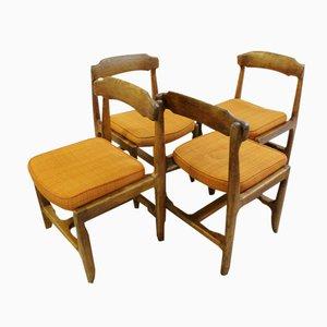 Sillas de roble de Guillerme et Chambron para Votre Maison, años 60. Juego de 4
