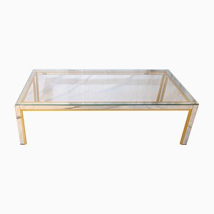 Chrome & Brass Table by Romeo Rega, 1970s