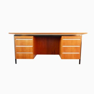 Large Vintage Desk in Teak Veneer from Eeka, 1960s
