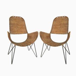 Chaises Brouette par Raoul Guys, Set de 2