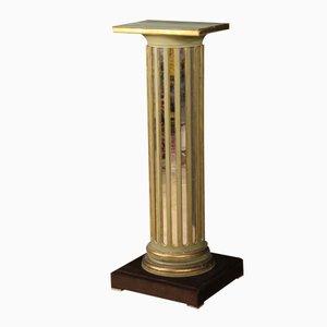 Espejo francés y columna de madera lacada