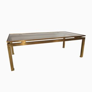 Brass & Glass Coffee Table by Guy Lefevre for Maison Jansen, 1970s