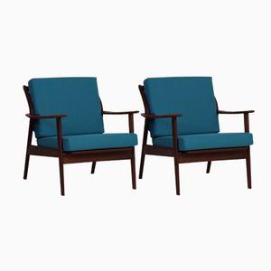 Dutch Teak Easy Chairs by De Ster Gelderland, 1960s, Set of 2