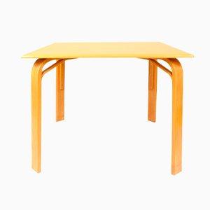 Vintage Czech Square Wooden Table