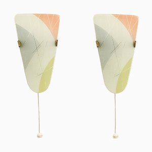 Functionalist Wall Lights, 1950s, Set of 2