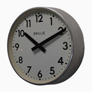 Reloj de fábrica francés industrial de Brillié, años 50