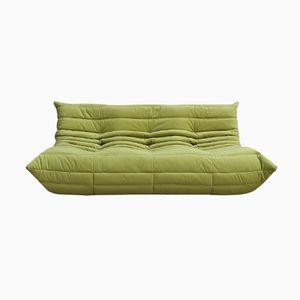 Grünes 3-Sitzer Togo Sofa aus Samt von Michel Ducarot für Ligne Roset