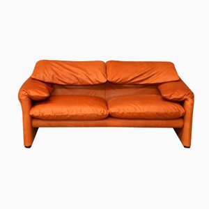 Vintage Maralunga Two-Seater Sofa by Vico Magistretti for Cassina