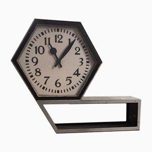 Reloj de estación grande de dos caras, años 50