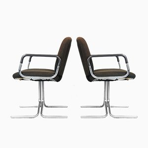 Braune Aluminium Stühle von Mauser, 1970er, 2er Set