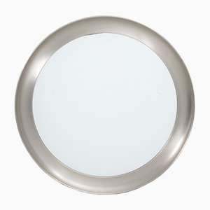 Italian Nickel Mirror by Sergio Mazza Narcisso for Artemide, 1960s