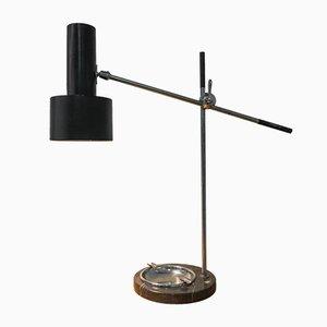 Lámpara de escritorio vintage con pie de mármol y cenicero