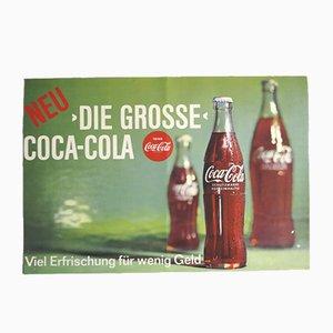 Póster de Coca Cola vintage, años 60