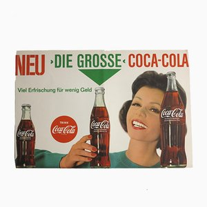 Vintage Lithographed Coca-Cola Poster, 1960s