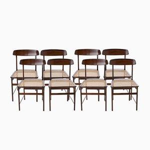 Lucio Costa Stühle aus Brasilianischem Jacaranda von Sergio Rodrigues für Oca, 8er Set