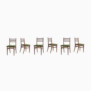 Chaises de Salon Trieste par Guglielmo Ulrich pour Saffa, 1961, Set de 6