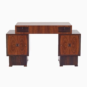 Art Deco Schreibtisch aus Palisander & Makasser Ebenholz von 't Woonhuys Amsterdam, 1920er