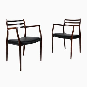 Model 62 Rosewood Armchairs by Niels Moller, 1960s, Set of 2