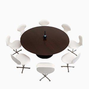 Table de Salle à Manger / de Conférence Vintage et Chaises Pivotantes par Alfred Hendrickx