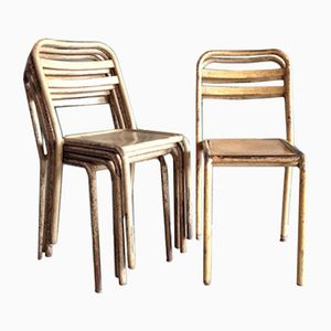 Vintage Community Stacking Chairs, Set of 6