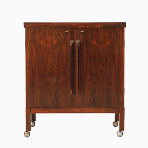 Rosewood Bar Cabinet by Torbjørn Afda for Bruksbo, 1960s